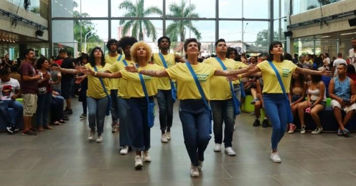 Intervenção Corpo Memória no Sesc Guarulhos